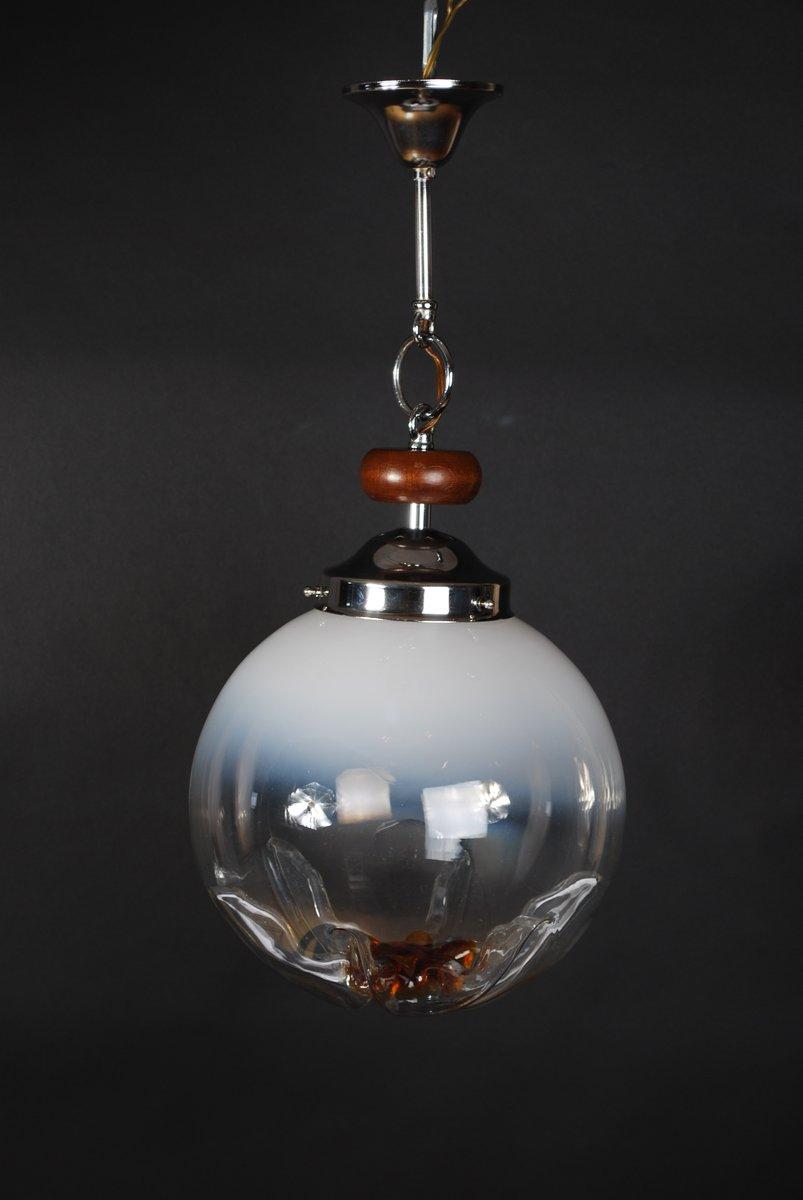 Vintage Murano Glas Hängelampe von Mazzega