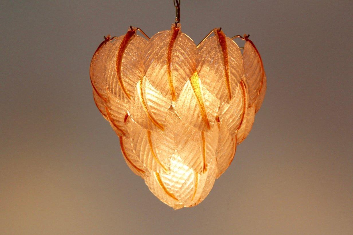 Kronleuchter Mit Blättern ~ Kronleuchter mit blättern aus murano glas von mazzega er bei