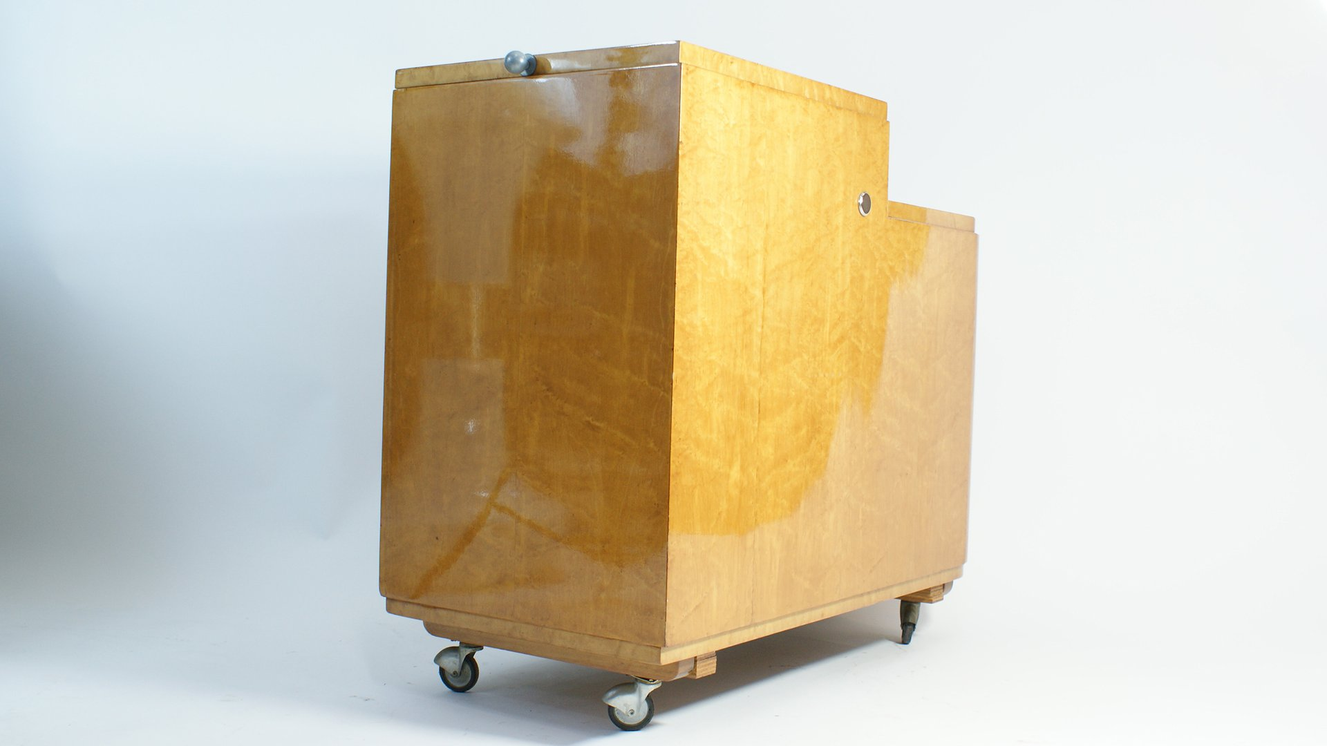 franz sischer art deco barwagen 1940er bei pamono kaufen. Black Bedroom Furniture Sets. Home Design Ideas