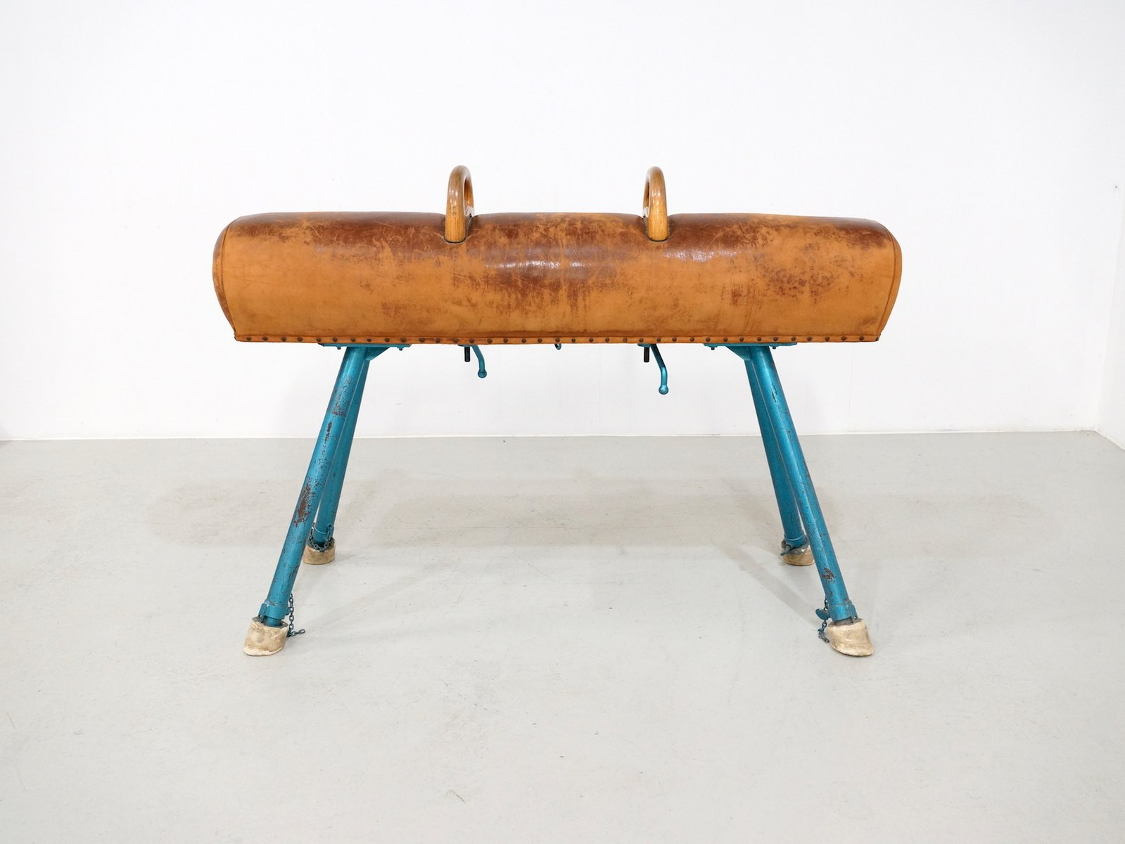 vintage pommel horse on an iron base 1950s for sale at pamono