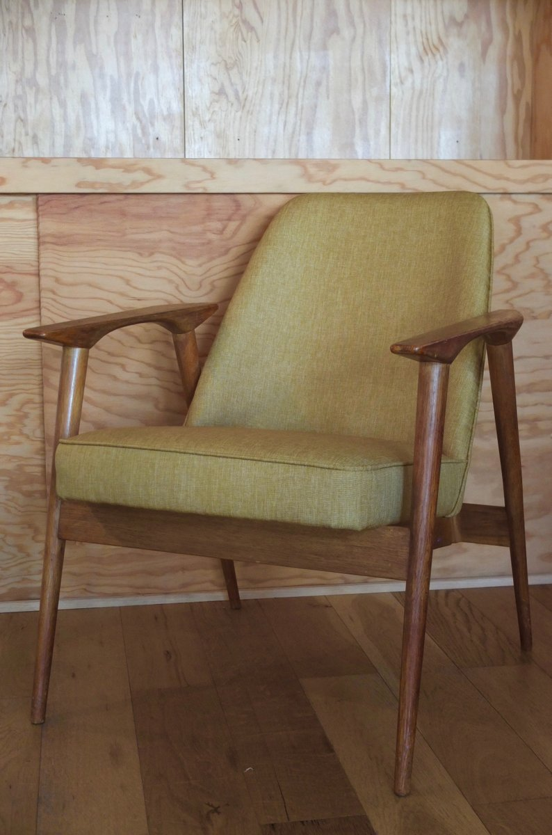 fauteuil jaune moutarde par miroslav navr til 1950s en vente sur pamono. Black Bedroom Furniture Sets. Home Design Ideas