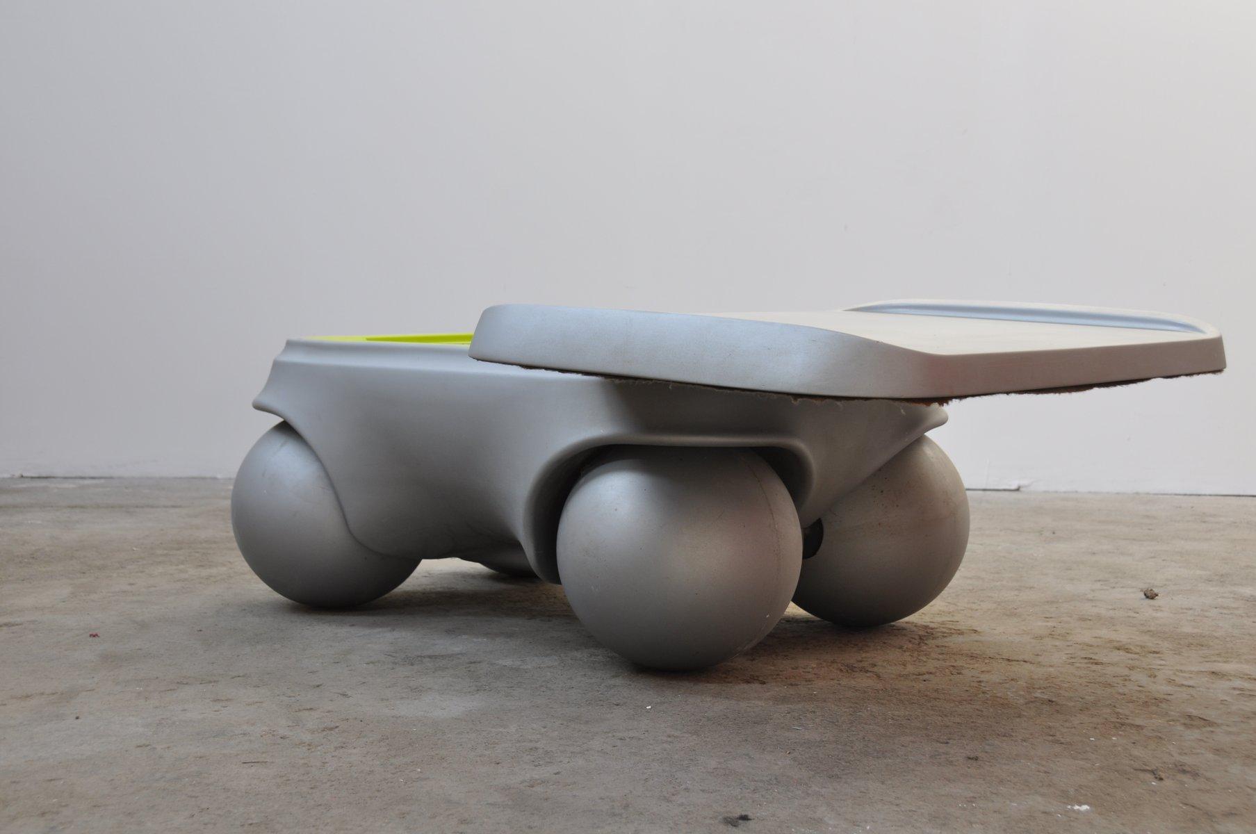 table basse roulante vintage par pierre colleu en vente sur pamono. Black Bedroom Furniture Sets. Home Design Ideas