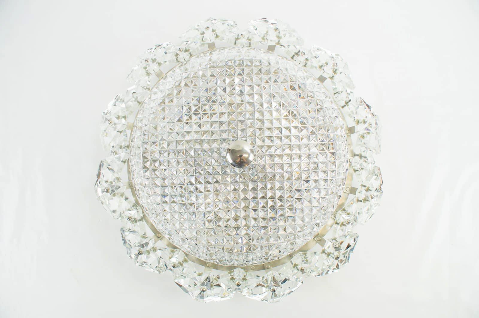 Kristallglas Lampen von Kinkeldey, 1960er, 2er Set
