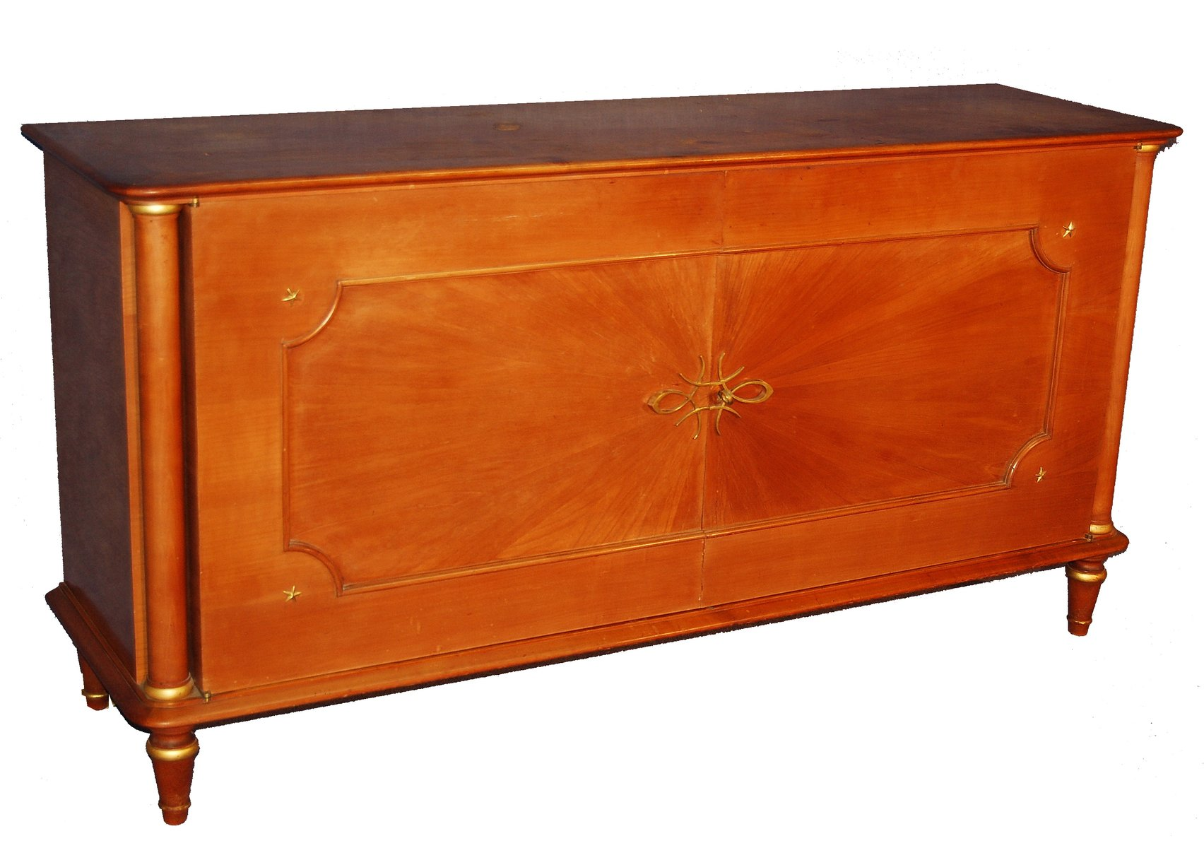 Zweitüriges Sideboard aus Hellem Holz, 1940er
