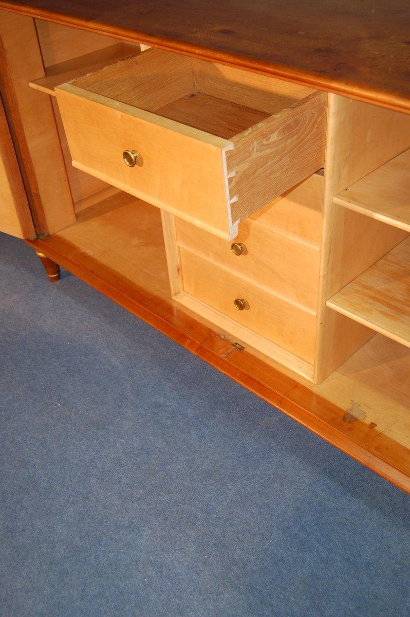 zweit riges sideboard aus hellem holz 1940er bei pamono kaufen. Black Bedroom Furniture Sets. Home Design Ideas