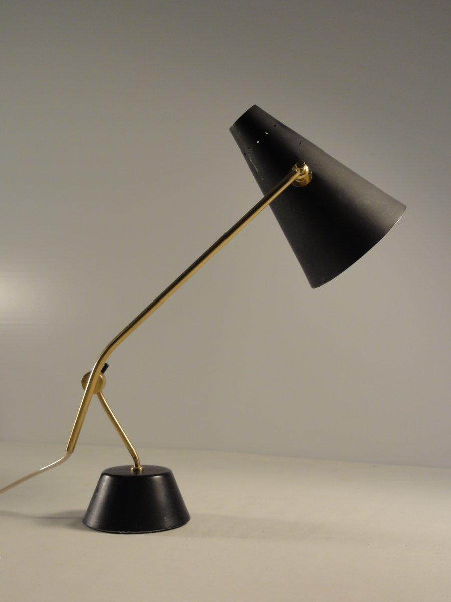 Feingliedrige Schreibtischlampe, 1950er