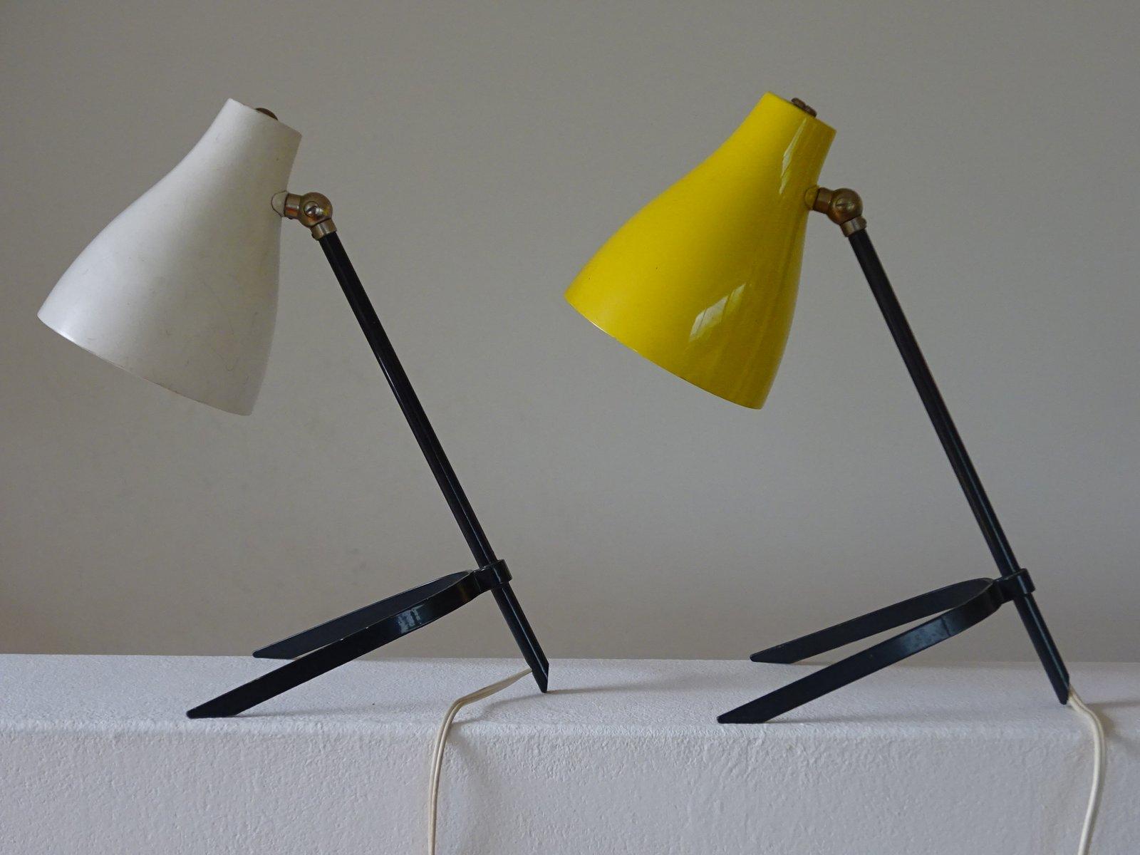 Mid-Century Tischlampen, 1950er, 2er Set