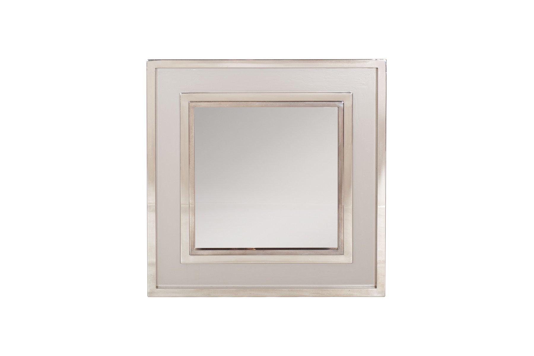 gro er verchromter spiegel von maison jansen 1980er bei pamono kaufen. Black Bedroom Furniture Sets. Home Design Ideas