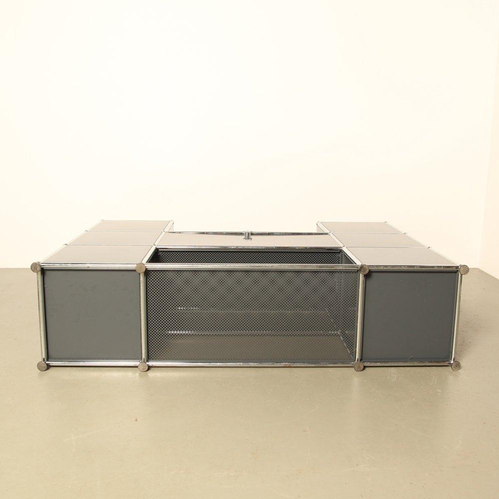 regalsystem von fritz haller paul sch rer f r usm haller 1960er bei pamono kaufen. Black Bedroom Furniture Sets. Home Design Ideas