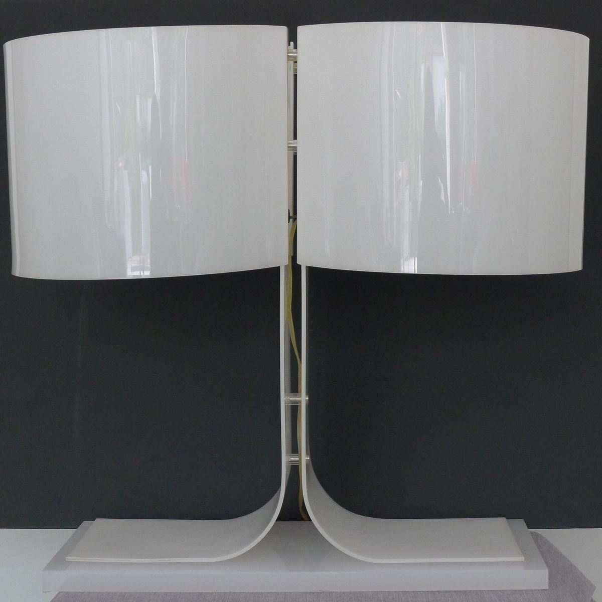 Vintage Plexiglas Tischlampe