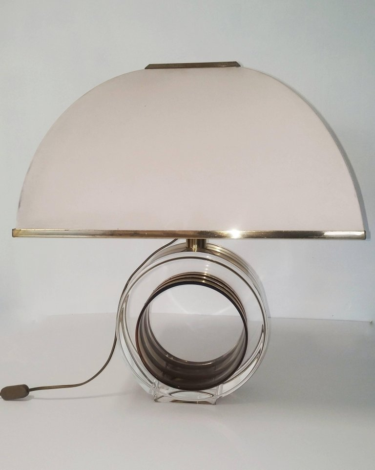 Vintage Brass U0026 Lucite Table Lamp From Smart Roma