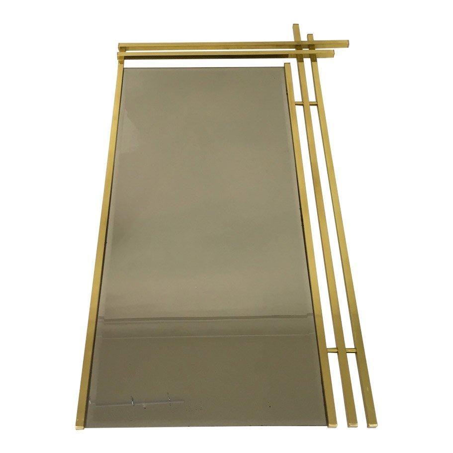 italienischer spiegel mit rahmen aus messing 1970er bei pamono kaufen. Black Bedroom Furniture Sets. Home Design Ideas