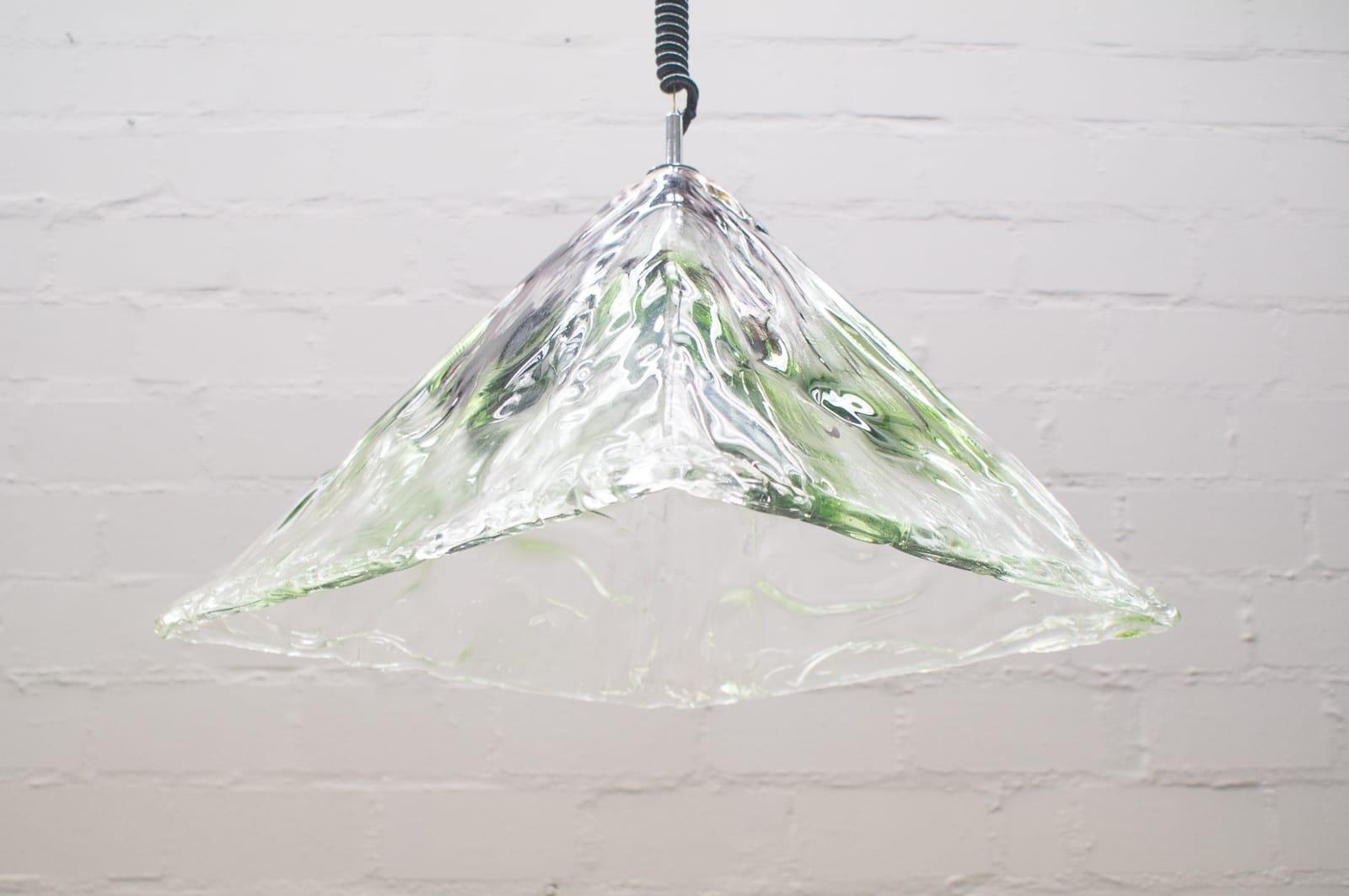 Mid-Century Murano Glas Lampe von Mazzega, 1960er