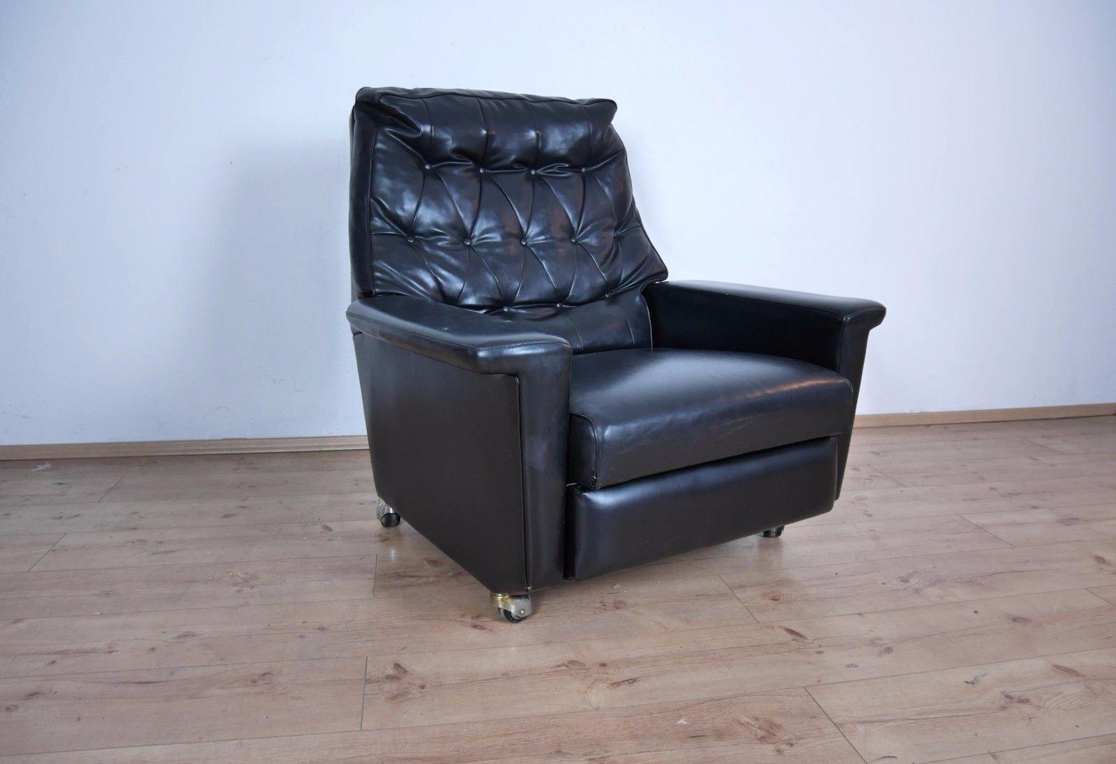vintage kunstleder sessel bei pamono kaufen. Black Bedroom Furniture Sets. Home Design Ideas