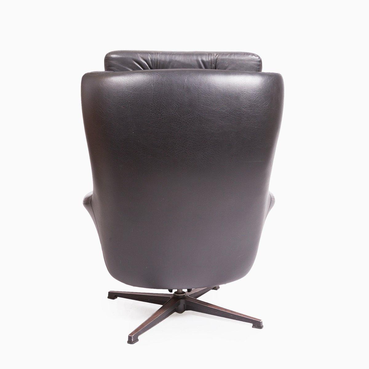 Sedia a dondolo in pelle di peem anni 39 70 in vendita su for Sedia design anni 70