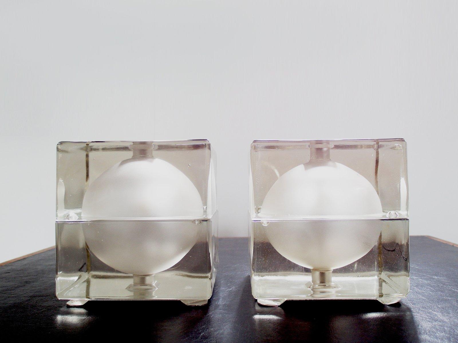 Vintage Cubosfera Tischlampen von Alessandro Mendini für Fidenza Vitra...
