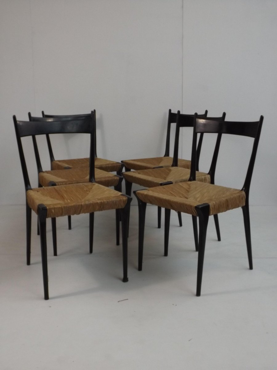 vintage esszimmerst hle von alfred hendrickx f r belform 6er set bei pamono kaufen. Black Bedroom Furniture Sets. Home Design Ideas