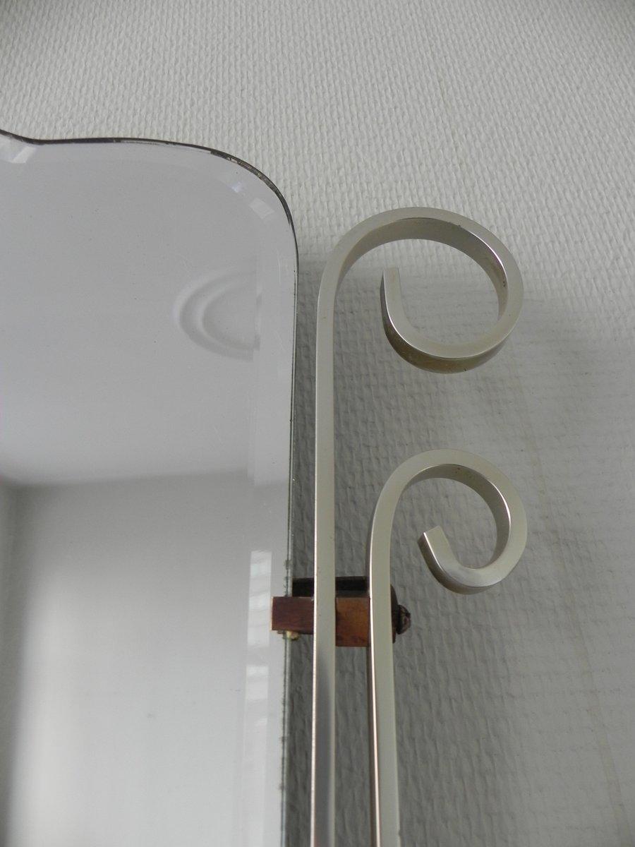 belgischer vintage spiegel mit aluminium rahmen bei pamono kaufen. Black Bedroom Furniture Sets. Home Design Ideas