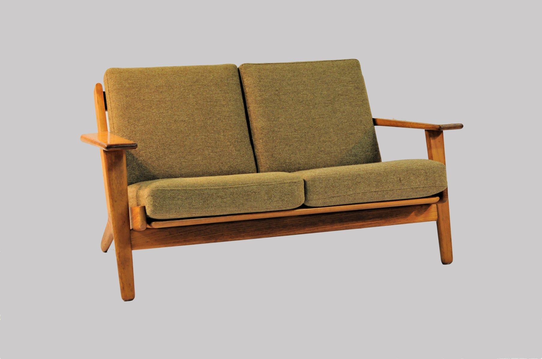 modell ge 290 2 sofa von hans j wegner f r getama 1950er bei pamono kaufen. Black Bedroom Furniture Sets. Home Design Ideas