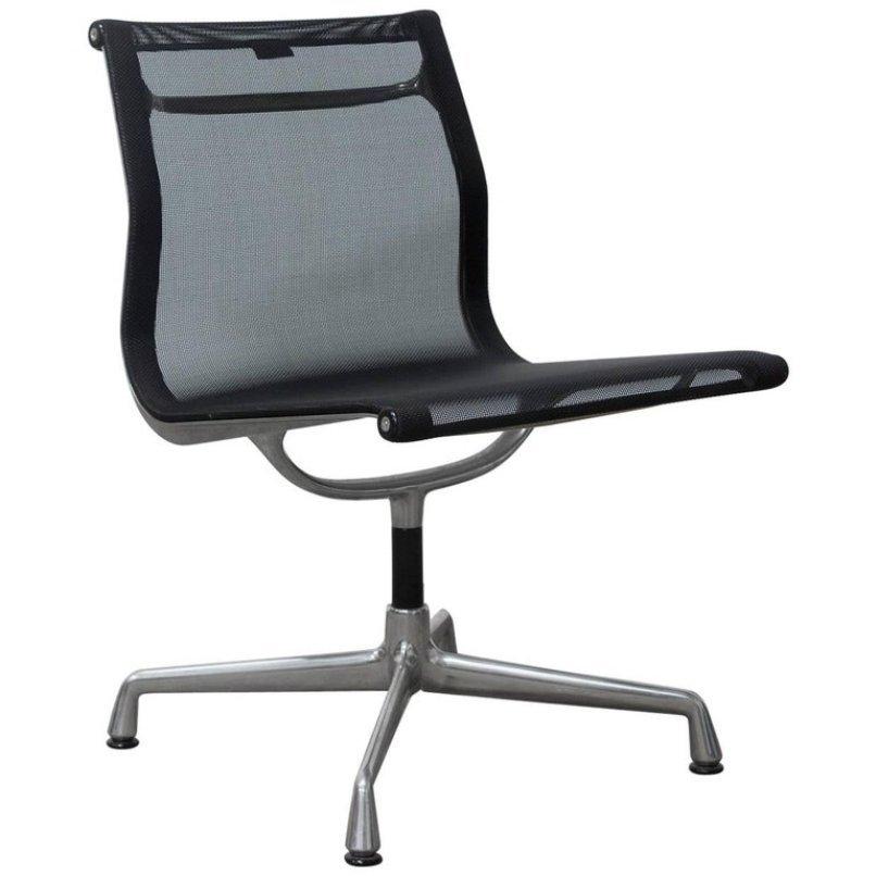 Nicht-Drehbarer Modell EA 107 Sessel von Charles & Ray Eames für Vitra...