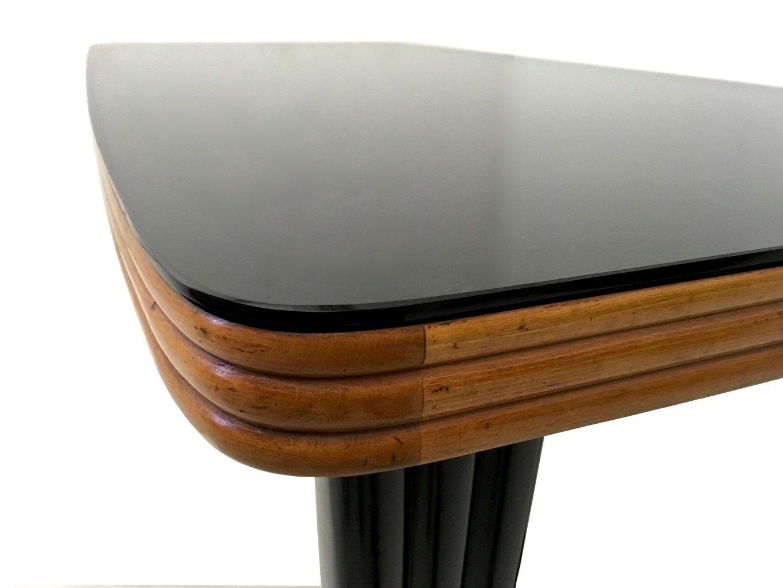table de salle manger en acajou et bois noirci avec. Black Bedroom Furniture Sets. Home Design Ideas