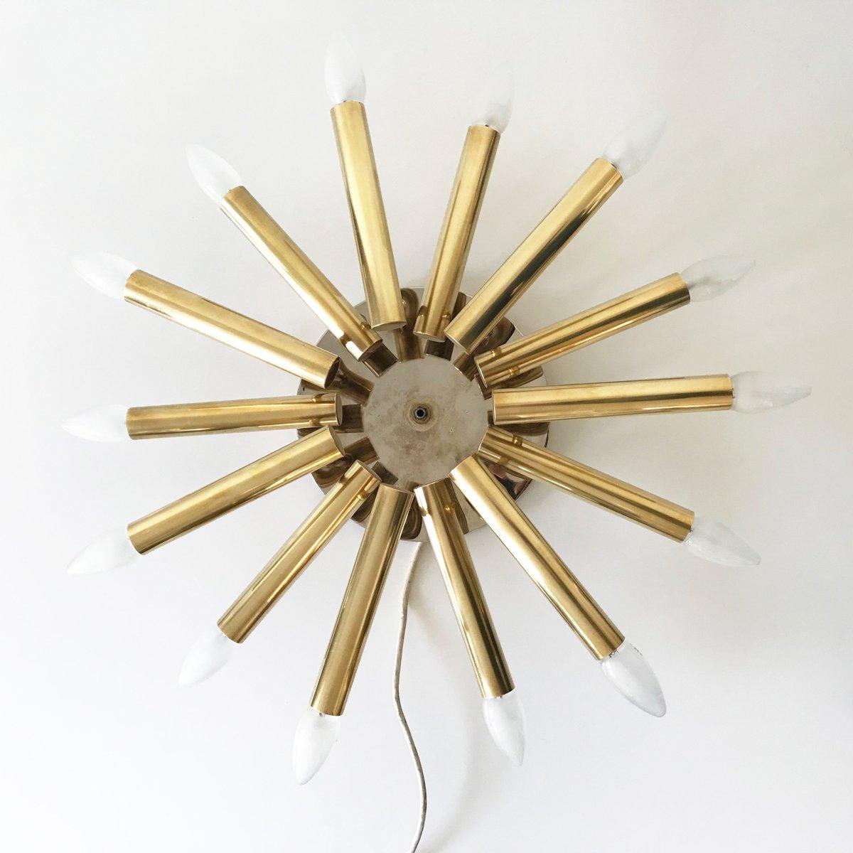Große Vintage Sputnik Wand- oder Deckenlampe
