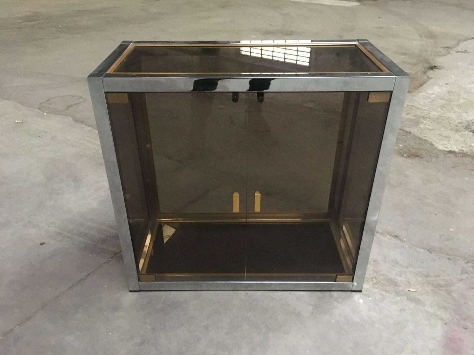 Gewaltig Vitrine Modern Galerie Von Mid-century In Chrome, Brass, And Smoked Glass