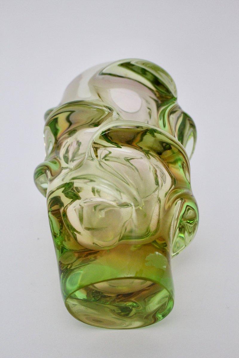 Tschechische vintage glasvase von jan beranek f r - Glasvase vintage ...