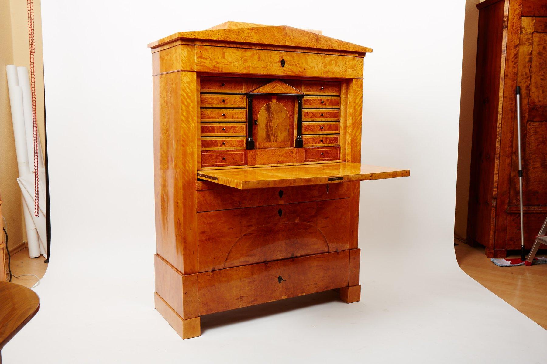 Antique Biedermeier Secretaire For Sale At Pamono