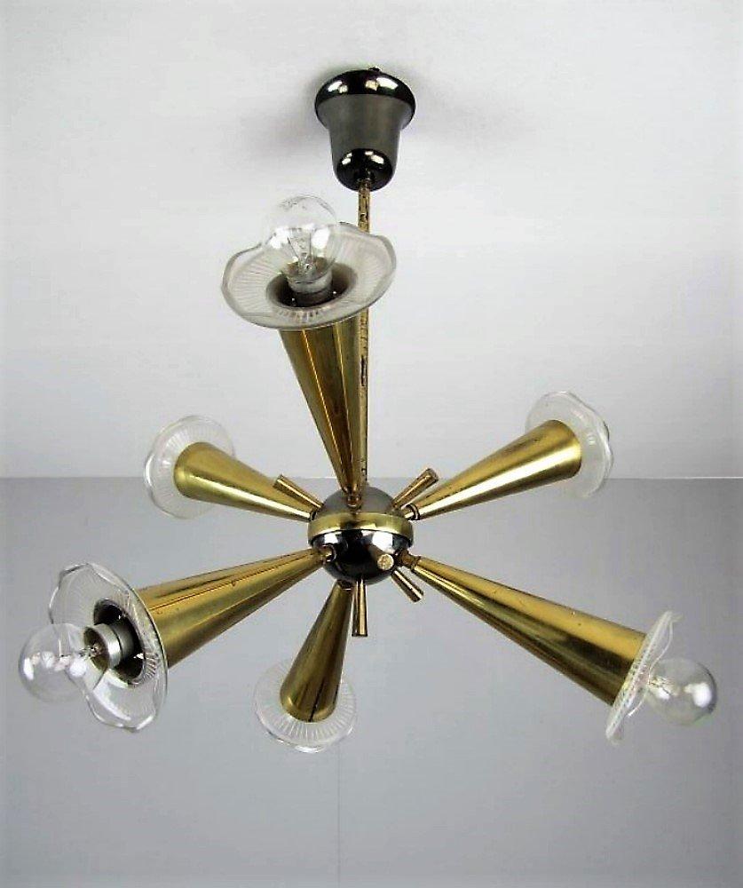 Vintage Sputnik Lampe, 1950er