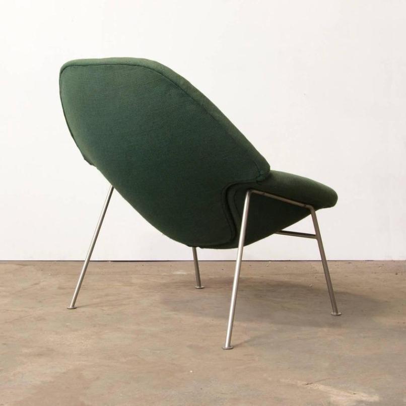gr ner modell 555 sessel von pierre paulin 1960er bei pamono kaufen. Black Bedroom Furniture Sets. Home Design Ideas