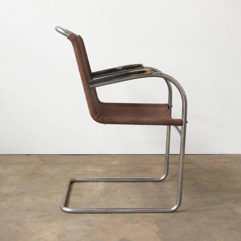 vintage stahlrohr beistellstuhl bei pamono kaufen. Black Bedroom Furniture Sets. Home Design Ideas