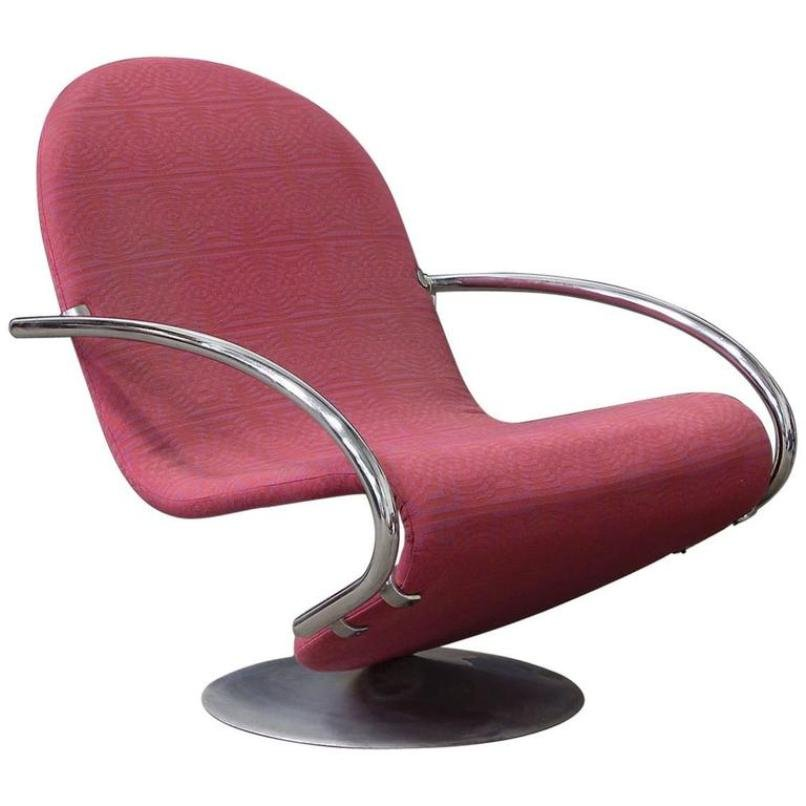 1 2 3 series easy chair in fabric by verner panton 1970s for sale at pamono. Black Bedroom Furniture Sets. Home Design Ideas