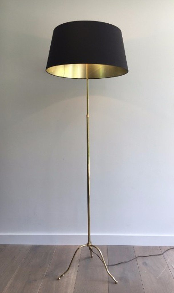 Messing Stehlampe, 1940er