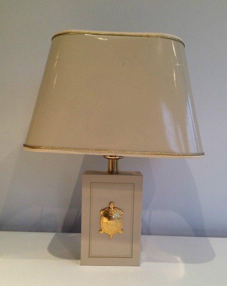 Tischlampe mit Schildkröten Ornamenten, 1970er, 2er Set