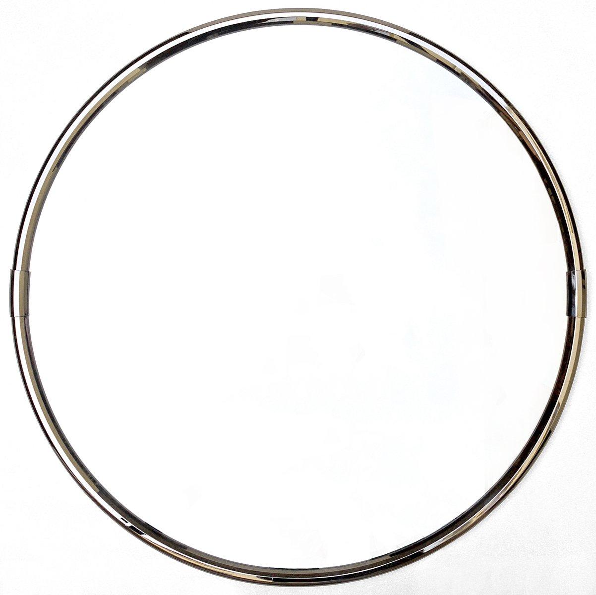 Espejo redondo con marco cromado a os 70 en venta en pamono for Espejo redondo con marco