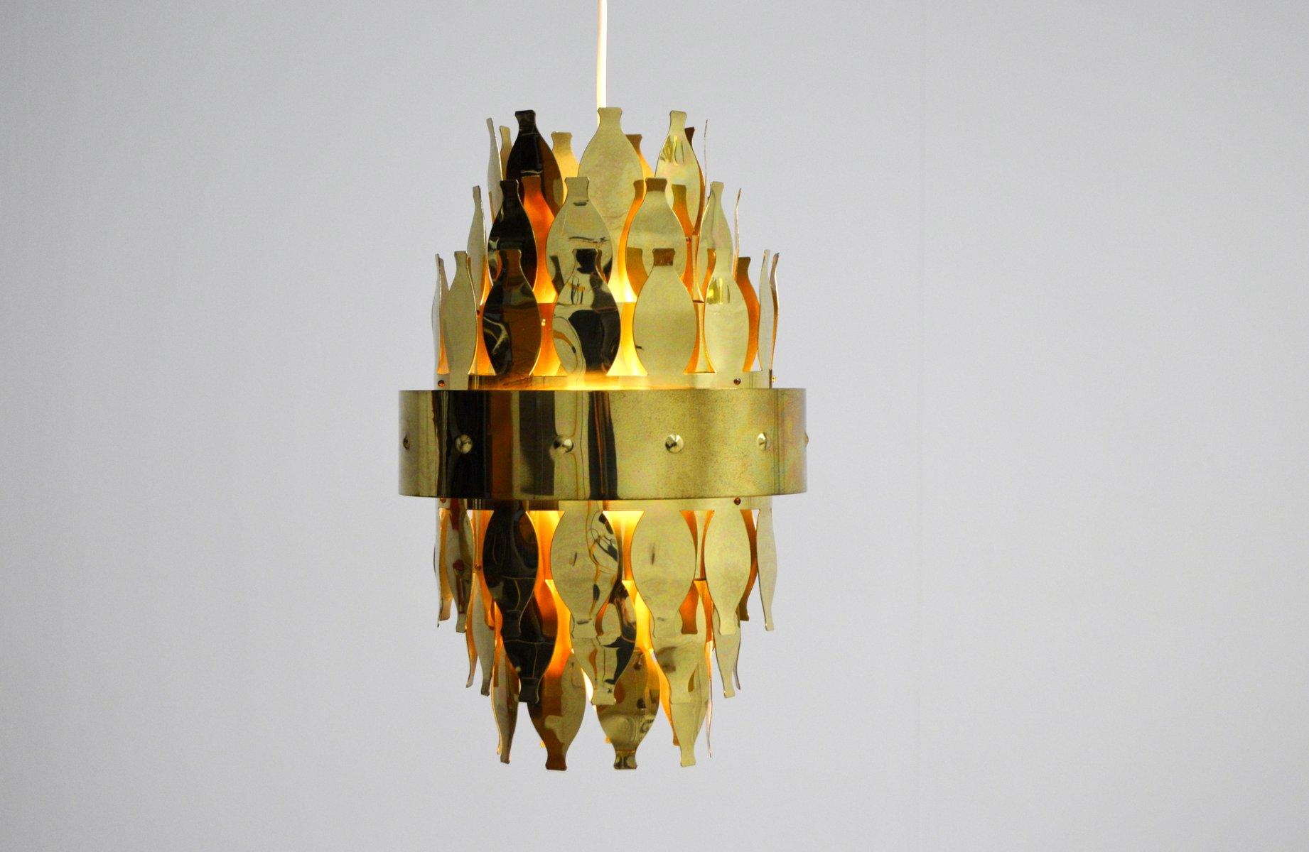 Deckenlampe aus Messing von Aneta, 1970er
