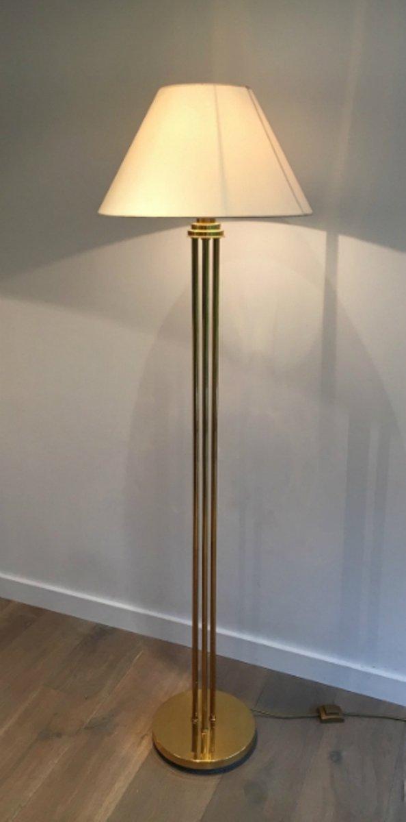 Messing Stehlampe, 1970er, 2er Set