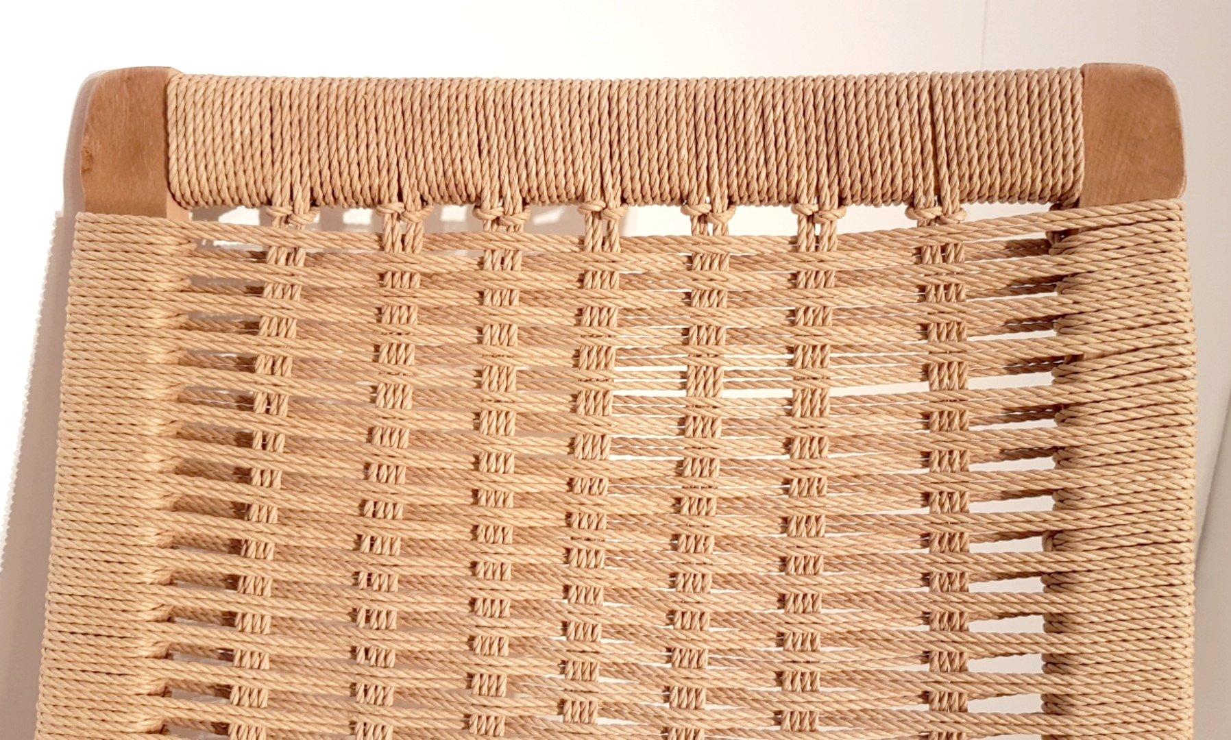 schaukelstuhl aus eiche korbgeflecht 1960er bei pamono kaufen. Black Bedroom Furniture Sets. Home Design Ideas