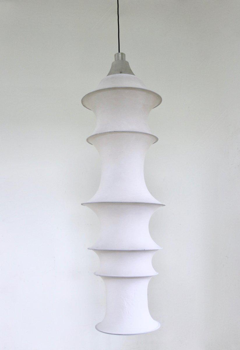 Elastische Weiße Hängelampe von Bruno Munari für Danese, 1964