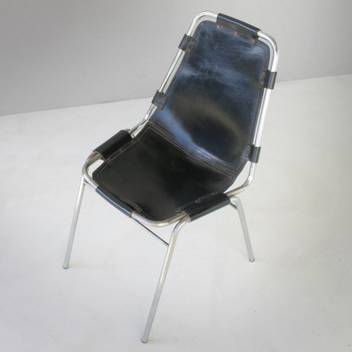 chaises les arcs vintage par charlotte perriand set de 2 en vente sur pamono. Black Bedroom Furniture Sets. Home Design Ideas