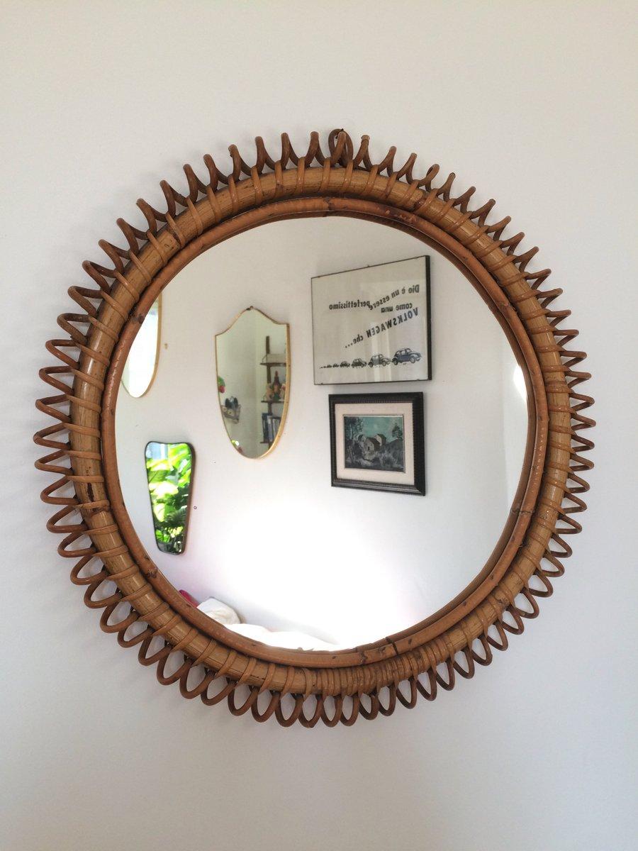 Specchio rotondo in bamb e vimini italia in vendita su - Specchio rotondo ...