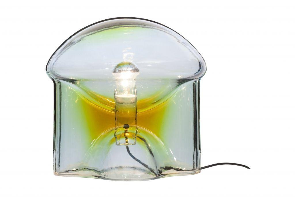 Medusa Glas Tischlampe von Umberto Riva für VeArt, 1970er