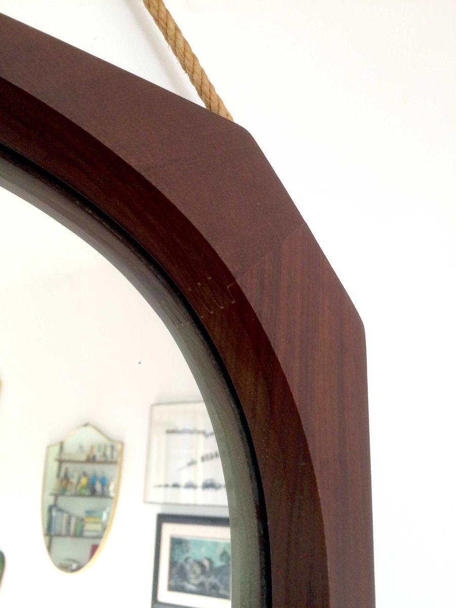 italienische vintage teak spiegel 8er set bei pamono kaufen. Black Bedroom Furniture Sets. Home Design Ideas