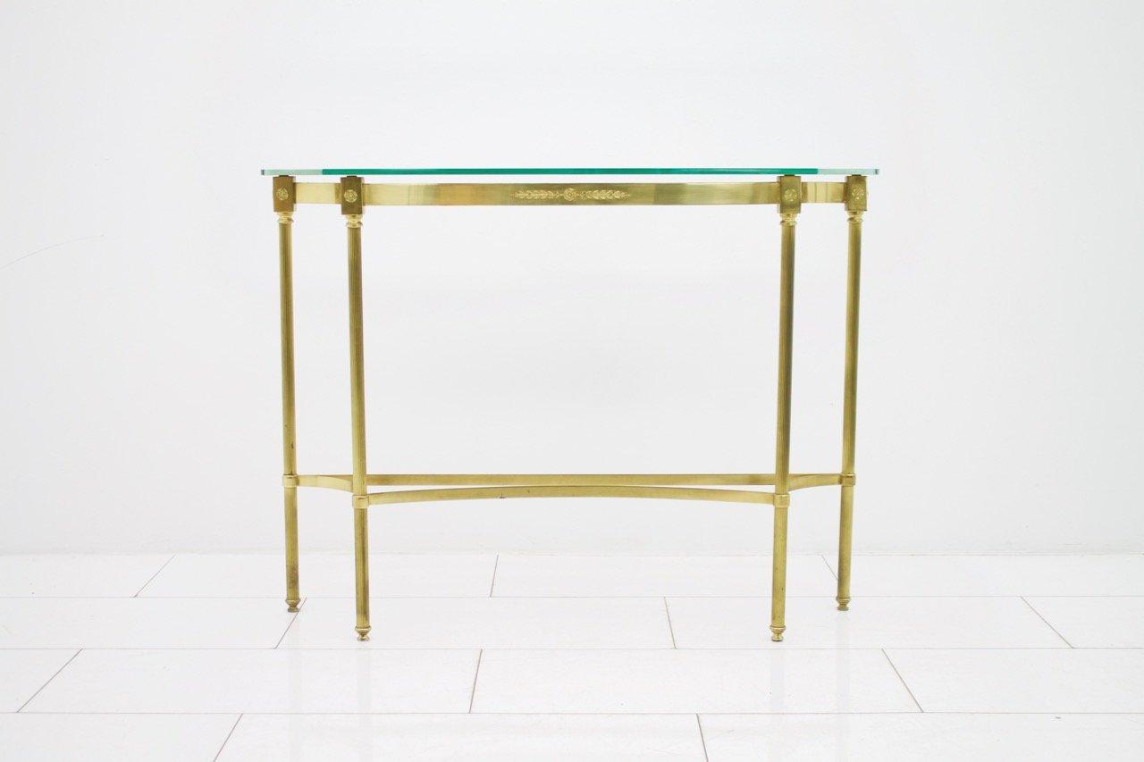 table console vintage en laiton miroir en vente sur pamono. Black Bedroom Furniture Sets. Home Design Ideas