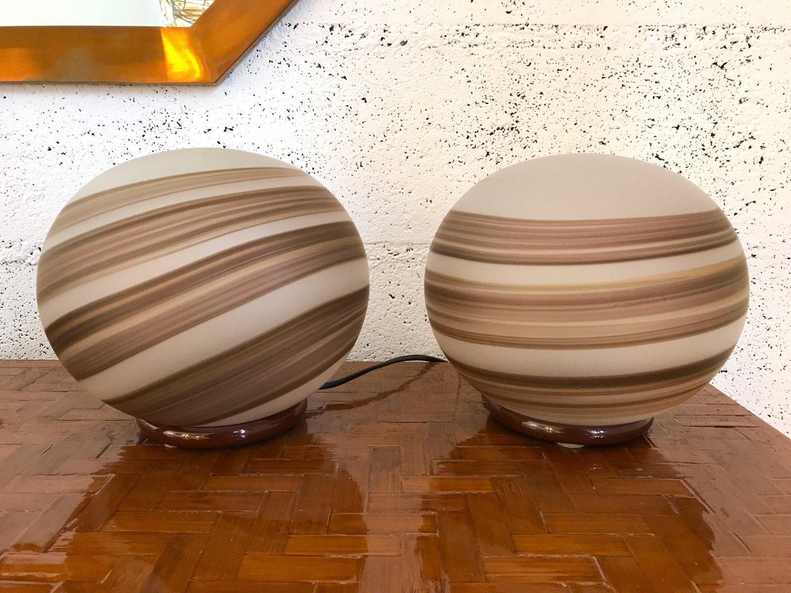 Tischlampen von Venini Murano, 1970er, 2er Set