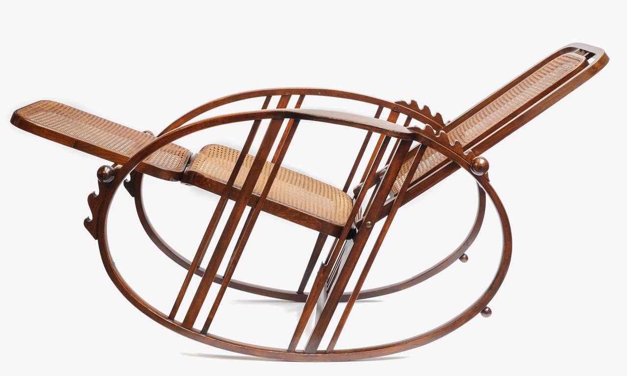 rocking chair vintage avec repose pieds par antonio volpe en vente sur pamono. Black Bedroom Furniture Sets. Home Design Ideas