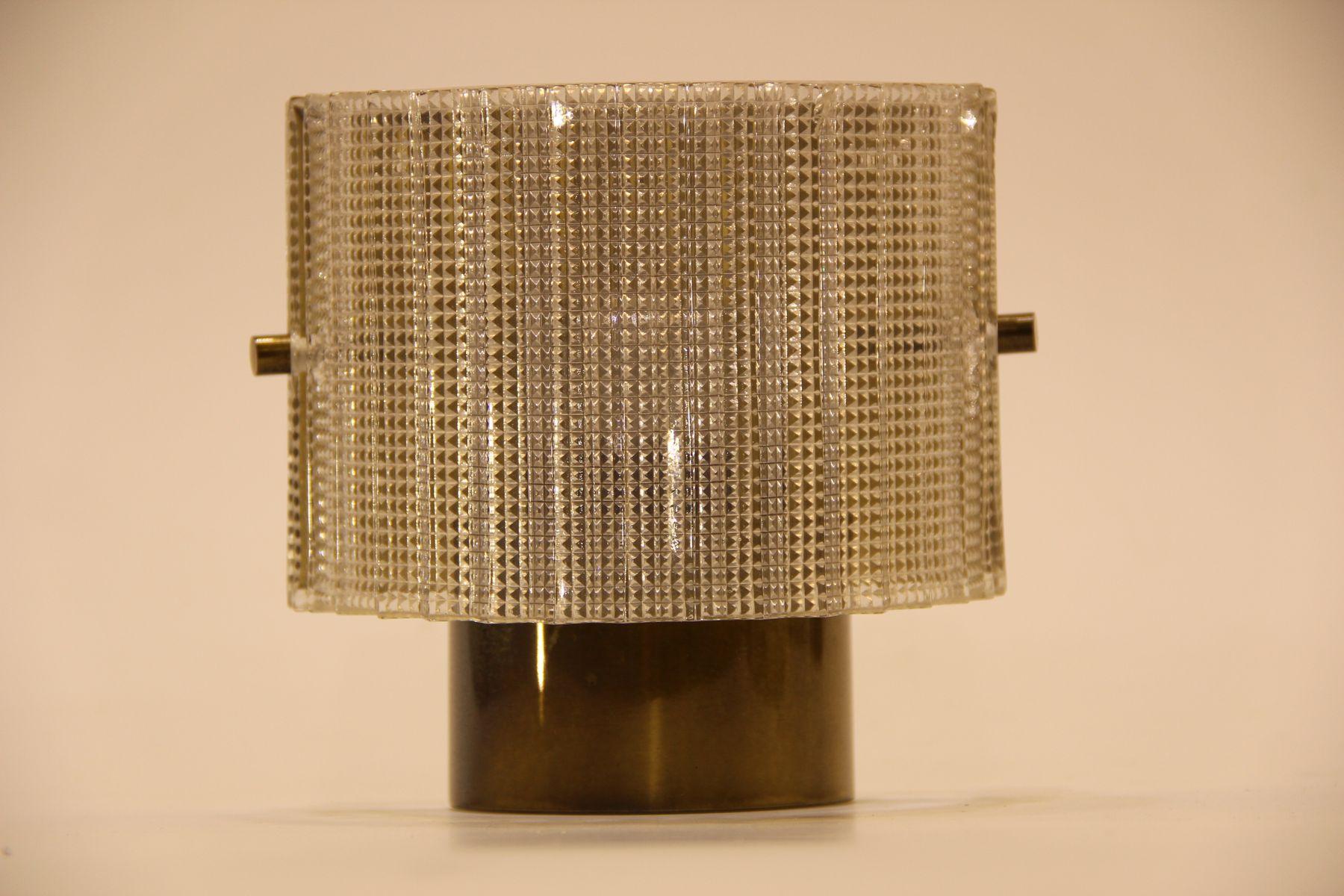 Vintage Wandlampen aus Messing & Glas von Hans-Agne Jakobsson AB Marka...