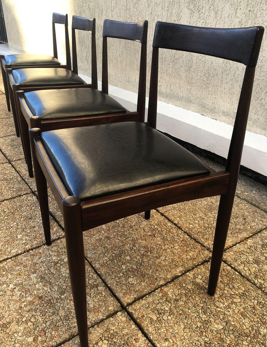 vintage palisander esszimmerst hle 4er set bei pamono kaufen. Black Bedroom Furniture Sets. Home Design Ideas