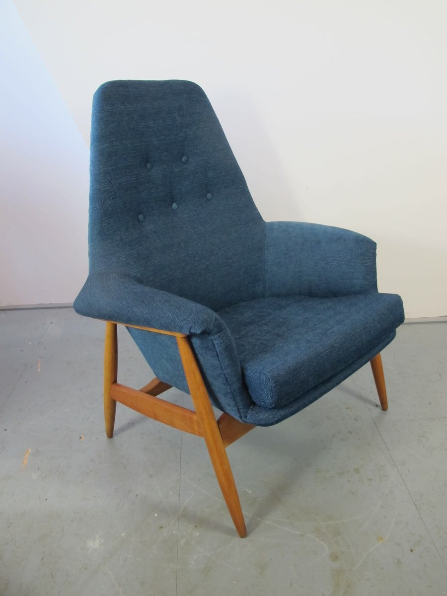 fauteuil vintage en teck 1950s en vente sur pamono. Black Bedroom Furniture Sets. Home Design Ideas